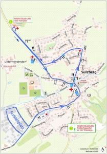 Wegstrecke Sulzberger Fasching 2020